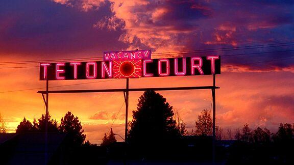 Teton Court Motel Neon Visit Pinedale
