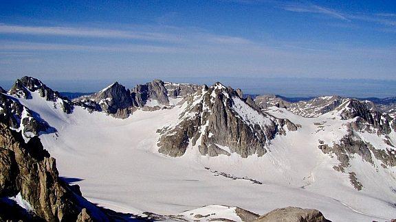 Mammoth Glacier viewed From Gannett Peak Wind River Range