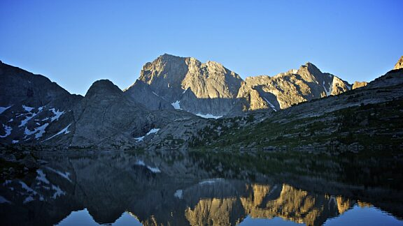 Deep Lake and Temple Peak - Wind River Range