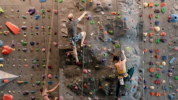 Climbing at the Pinedale Aquatic Center - Visit Pinedale, WY