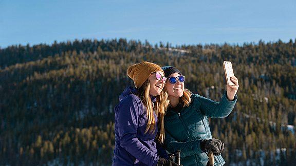 Visit Pinedale, WY - Winter Snowshoeing Selfie Half Moon Lake