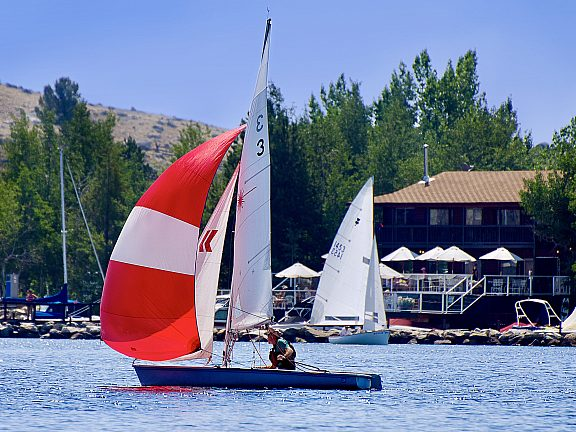 Sailing on Fremont Lake - Pinedale, WY