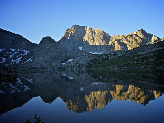 Deep Lake and Temple Peak - Wind River Range