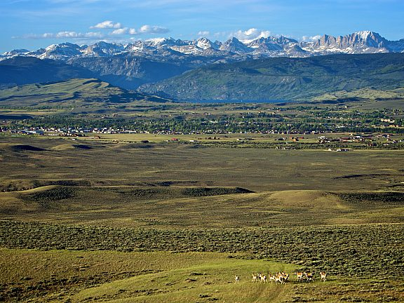 Pinedale, WY and the Wind River Mountain Range