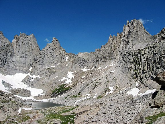 Cirque Lake, Cirque of the Towers, Wind River Range - Pinedale, WY