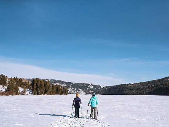 Snowshoeing Half Moon Lake - Visit Pinedale, WY -
